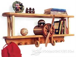 Coat Rack Shelf Plans Biplane Shelf and Coat Rack Children's Furniture Plans and 44