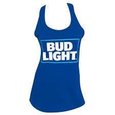 Bud Light Logo Amazon Com Bud Light Basic Logo Womens Racer Back Tank Top