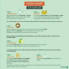 Plz Provide Food Chart For 6 Month Onwards Old Baby