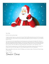 Free Letter From Santa Word Template Template For Letter To Vector Image Christmas Wish List