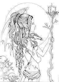 Mystical A Fantasy Coloring Book Adult Coloring Pinterest