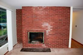 Exquisite Photo Painting Brick Fireplace Ideas How To Painting Brick  Together With Image Along With Red