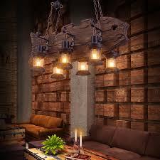 Us 36708 8 Offled E27 Loft Industriellen Eisen Holz Led Lampe Led Licht Pendelleuchten Pendelleuchte Pendelleuchte Für Esszimmer Foyer Shop In