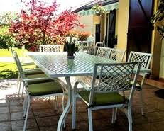 white metal outdoor furniture. White Rosemary 8 Seater Metal Outdoor Furniture T
