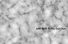 White Marble Knitting Design Graph Paper 40 Stitches 50 Rows