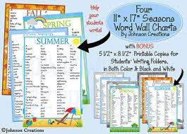 Four Seasons Word Wall Charts