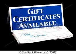 Gift Certificate Sign Gift Certificates Available Sign And Certificates