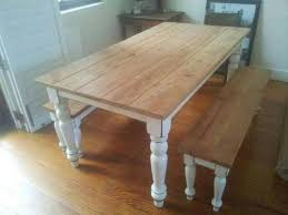 rustic dining table and bench pleasing design pine with regard to room designs 18