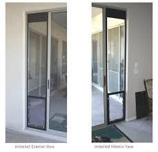 completed omni panel pet door installation