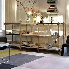 woody shelving system created in the spirit of modernism hay woody 1 column 6 white shelves 75 5 x 44 5 x 196 5 cm wxdxh