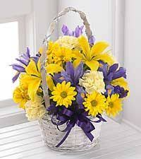 the spirit of spring basket by ftd basket included easter flower arrangementseaster