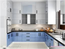 Kitchen Designs For Indian Homes Photos Beautiful Blue Toned - Home interior design kerala style