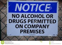Alcohol Policy Of Drugs Photo Image 42888690 Notice Stock - No Or Safety