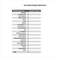 sample household budget monthly household budget template 10 household budget template