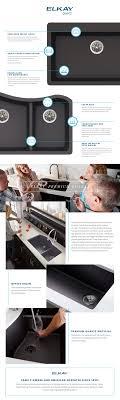 Elkay Kitchen Faucet Parts Elkay Premium Quartz Dual Mount Composite 33 In Double Bowl