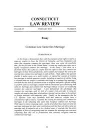 common law same sex marriage essay connecticut law review  what is heinonline