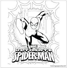 In the movie the amazing spiderman. Ultimate Spider Man Coloring Pages Spiderman Coloring Pages Free Printable Coloring Pages Online