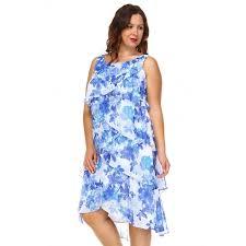 Slny Womens Plus Size Layered Chiffon Dress Calibre Apparel