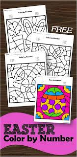 This download is for personal use only. Easter Color By Number Printables Thrifty Homeschoolers