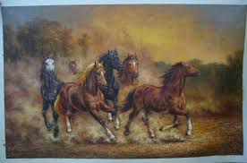 oil painting of horse horse painting 2 horse oil painting sinoorigin