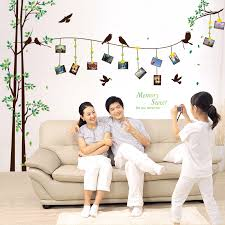gaint family tree wall decal removable photo frame wall sticker for li
