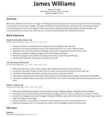 Plumber Resume Construction Manager Resume Sample ResumeLift 96