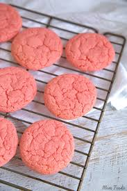 Strawberry Cake Mix Cookies Recipe Make Pink Cookies From Cake Mix