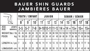 Bauer Supreme Size Chart Bauer Supreme 2s Pro Youth Hockey Shin Guards