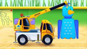 Đồ chơi trẻ em - Chơi trò xe cẩu xây nhà - Game 3D cho bé - YouTube