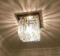 flush mount mini chandelier hallway crystal chandelier 1 light mini modern square flush mount flush mount