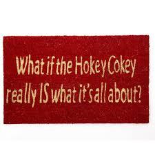 Decorating coir door mats pics : Heaven Sends Hokey Cokey Non Slip Coir Doormat