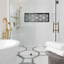 white floor tiles bathroom. Bathroom - Mid-sized Transitional Master Black Tile, And White  Multicolored Floor Tiles Bathroom