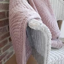 King Size Dusty Pink Velvet Quilted Bedspread | Broste | Feather ... & dusky-pink-velvet-throw-closeup Adamdwight.com