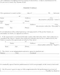 Simple Contractor Agreement Template A Payment Agreement Template Between Two Parties And