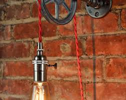 pulley lighting. wall pulley light vintage industrial cast iron 1wheel pendant lighting t