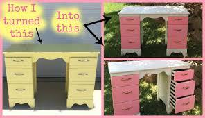 girls desk furniture. Ep.1 - Just A Girl And Her Paintbrush: Furniture Makeover Desk/Makeup Vanity YouTube Girls Desk