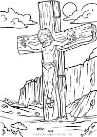 Kleurplaat Godsdienst Kruisiging Jezus Gratis Kleurpaginas Om