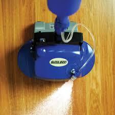 Kitchen Floor Scrubber The Hard Floor Scrubber With Spray Applicator Hammacher Schlemmer
