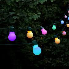 solar colour changing led festoon lights 20 lights