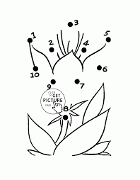 Flower Easy Dot To Dot Coloring Pages For Preschoolers Connect The