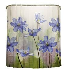 purple and blue shower curtains. Exellent Curtains Polyester Shower Curtain Purple Blue Big Flower Bathroom Waterproof  With 12 Hooks 180X180cm In And Curtains A