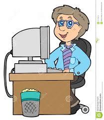 Employ De Bureau De Dessin Anim Illustration De Vecteur