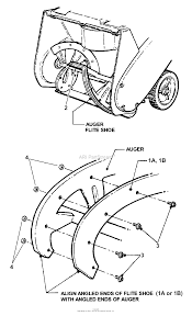 Snapper le3190r 80487 19 3 hp single stage snow thrower series 0 parts diagrams