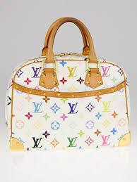 louis vuitton white bag. louis vuitton white monogram multicolor trouville bag