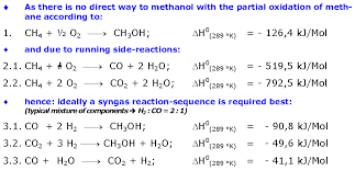 chemical equation for methanol jennarocca