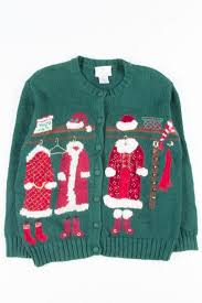 Susan Bristol Size Chart Green Ugly Christmas Cardigan 51438