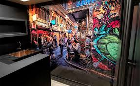 >one home two impressive vr art glass features printed glass vr art glass by visual resource mural sized wall art melbourne street art photography