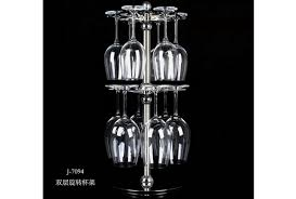 stainless steel single layer double layer wine glass rack inversely hanging glasses rack