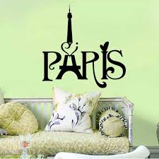 Words To Decorate Your Wall With Black English Words Paris Tower Wall Art Mural Decor Transform