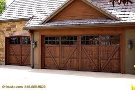 painting a metal garage door to look like wood ideas